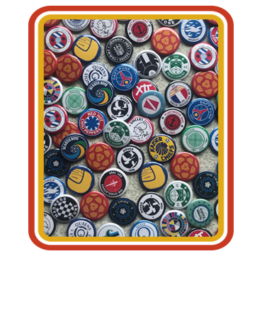 Button badges and enamel badges